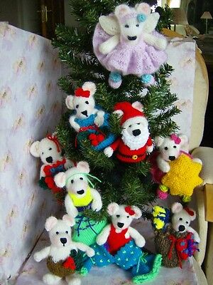 £3.99 • Buy Bearly Christmas Time -Tree Trims/decorations/fillers  Soft Toy Knitting Pattern