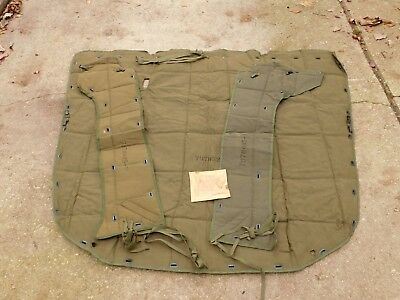 $702.73 • Buy M35a2 Arctic Hood Blanket And Side Panel Covers **very Rare** 2540-00-455-1354
