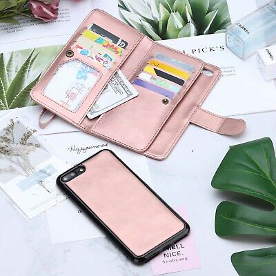 AU18.99 • Buy Leather Wallet Case Card Holder Cover For Apple IPhone X 8 7 Plus