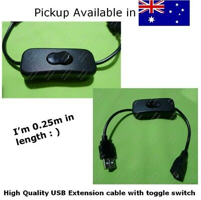 AU4.88 • Buy Short USB A Female To USB A Male Toggle Switch / Extension Cable | High Quality