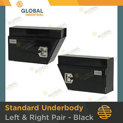 AU304 • Buy NEW Pair Of Black Under Tray Ute Steel Tool Box Vehicle Trade Underbody 660mm