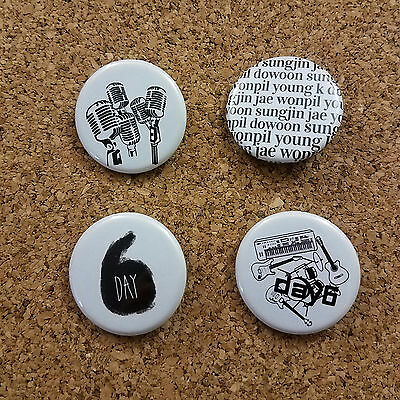 $ CDN9.84 • Buy DAY6 1.25 Inch Buttons Badges Set Of 4 KPOP Fanmade Merch JYP Nation 데이식스