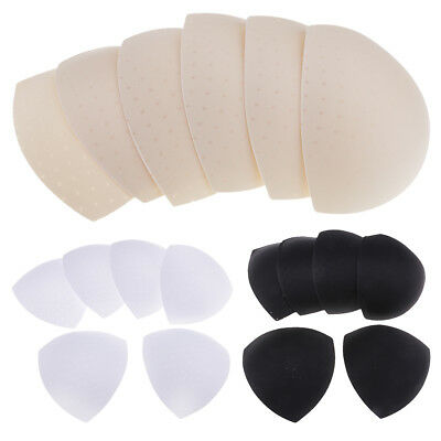 3 Pairs Triangle Replacement Bra Pads Inserts For Sport Underwear With Hole • 3.97£