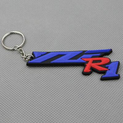 AU6.32 • Buy Motorcycle Rubber Key Ring Key Chain Keyring Keychain For YAMAHA YZF R1 Gift