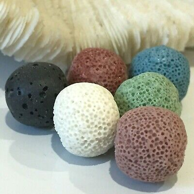 AU11.95 • Buy 6 Aromatherapy Diffuser Essential Oil Lava Stone For Locket Necklace 13 - 14mm