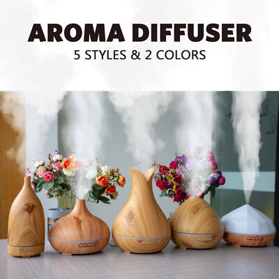 AU33.88 • Buy LED Air Humidifier Aroma Diffusers Essential Oil Purifier Can Be Used For Car