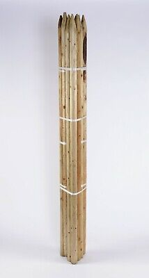 TREE STAKES 5 PACK OF 1.8m X 50mm MACHINE ROUND POINTED GARDEN TIMBER FENCE POST • 28.85£
