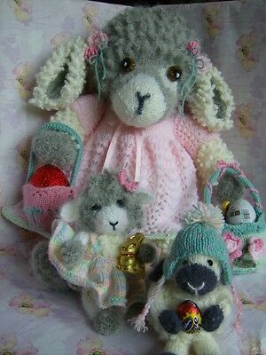 £3.99 • Buy Sweet 'n Nuff For Easter - Lambs + Clothes/accessories Soft Toy Knitting Pattern