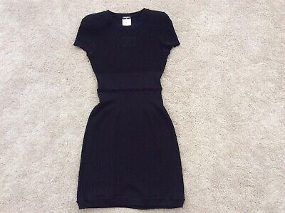 ef211ac87aa CHANEL Black KNIT CC MINI DRESS 09P COLLECTION SIZE 36 RUNWAY RARE CLASSIC  • 469.99