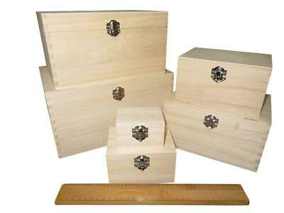 Wooden Treasure Chest Storage Memory Box Keepsake Photos Personalise Gift Choose • 9.99£