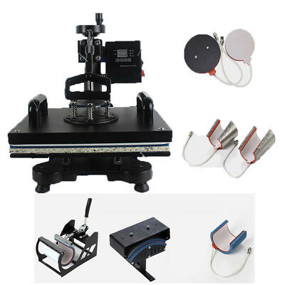 AU587.51 • Buy HEAT PRESS MACHINE 8 In 1 COMBO MUG HAT T-SHIRT PLATE Sublimation Ink
