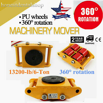 $53.12 • Buy 360° Heavy Duty Machine Dolly Skate Machinery Roller Mover Cargo Trolley 6T