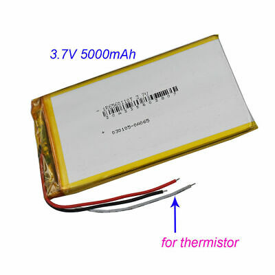 £9.90 • Buy 3.7V 5000mAh 3 Wires Thermistor Polymer Li Battery For PDA GPS Tablet PC 6560110