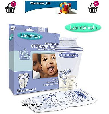 Lansinoh 100 Breastmilk Storage Bags • 18.74£