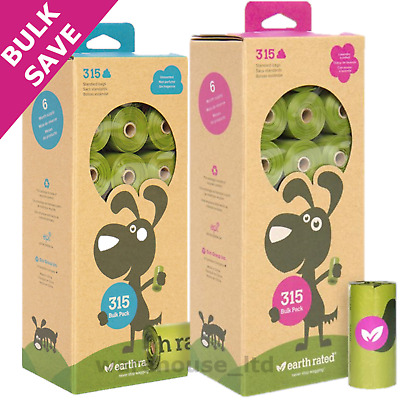 £10.95 • Buy Earth Rated Eco Friendly Degradable Unscented Scented Dog Poo Poop Bags 315 New
