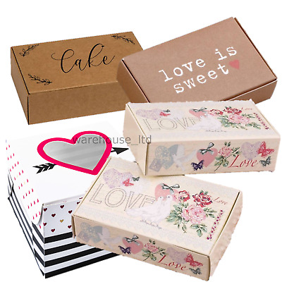 £5.99 • Buy 10 Cake Slice Boxes Wedding Party Favours Contemporary Vintage Choose Design