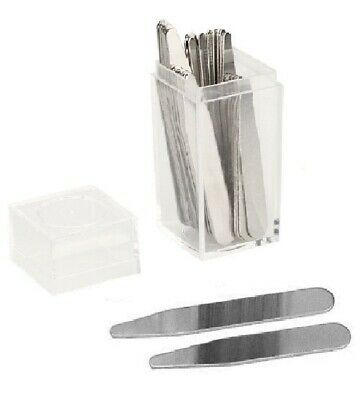 $6.75 • Buy Pick Your Size! 20 Metal Collar Stays 2  2.2  2.5  2.75  3  In Clear Plastic Box
