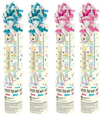 £5.75 • Buy NEW 2 X BABY SHOWER GENDER REVEAL CONFETTI SHOOTER CANNON PINK BLUE POPPER PARTY
