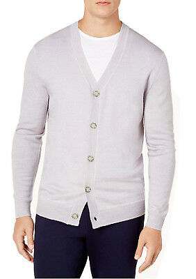 $22.50 • Buy $99 New Mens Club Room Button Front 100% Merino Wool Sweater Cardigan L