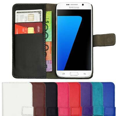 AU6.39 • Buy Leather Flip Case Wallet Cover For Samsung Galaxy S9 S8 S7 S6 S5 S4 S3 J1 Plus +