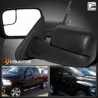 $82.38 • Buy 02-08 Dodge Ram 1500/03-09 2500 3500 Tow Extend FlipUp Manual Mirrors Left+Right