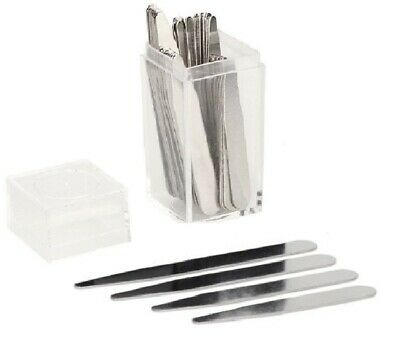 $8.75 • Buy 40 Count 20 Pairs Metal Collar Stays Men 4 Various Sizes In Clear Plastic Box