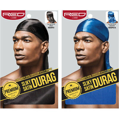 $4.94 • Buy Red By Kiss Premium Quality Silky Satin Durag #hdup Extra Long Tails Doo Rag