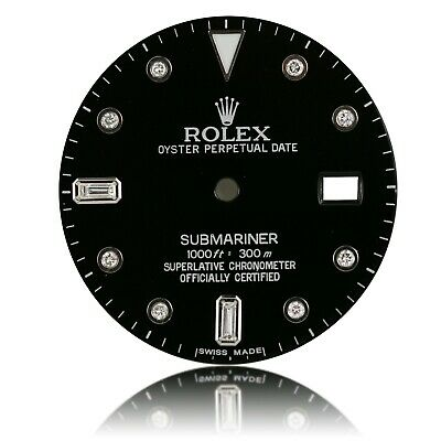$ CDN473.69 • Buy For Rolex Submariner Stainless Steel Black Diamond Dial
