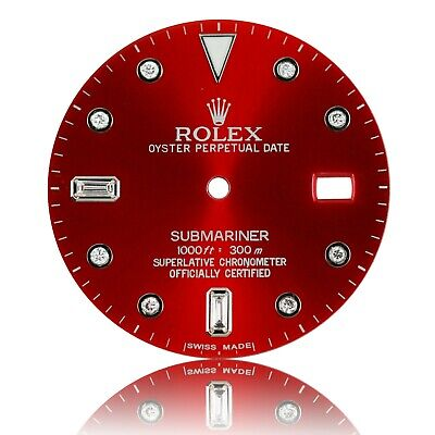 $ CDN473.69 • Buy For Rolex Submariner Stainless Steel RED Diamond Dial