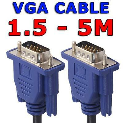 AU4.45 • Buy 1.5M 3M 5M VGA SVGA 15pin Male To Male Extension PC Monitor LCD HD Screen Cable