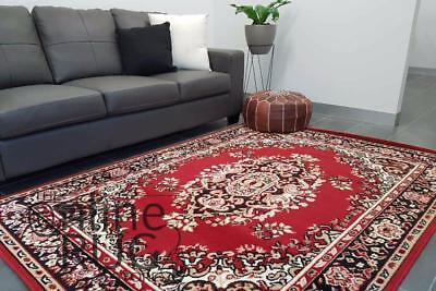 AU149 • Buy RED FLOOR RUG TRADITIONAL PERSIAN STYLE CARPET EXTRA LARGE - 200 X 290 CM