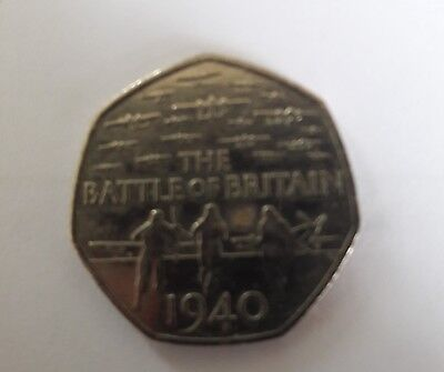 Battle Of Britain Fifty Pence 50p Coin 2015 Genuine Rare & Collectable • 20£
