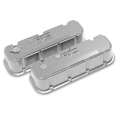 $400.95 • Buy Holley 241-151 Polished Tall Finned M/T Valve Covers For Big Block Chevy Engines