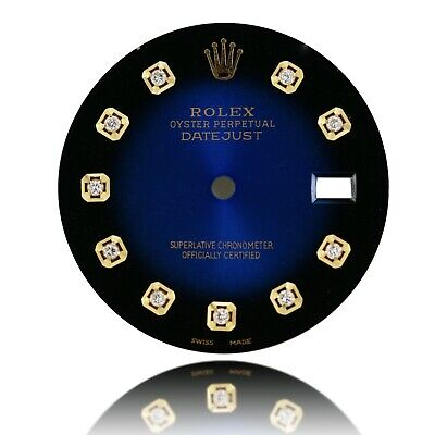 $ CDN434.46 • Buy For Rolex Mens Datejust Two Tone Blue Vignette Color Dial With Diamond Marker