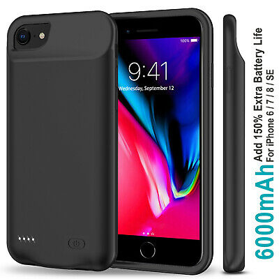 AU52.99 • Buy IPhone 6/6s/7/8/ PLUS Battery Case Power Bank Portable Charger Cover 6800/7000mA