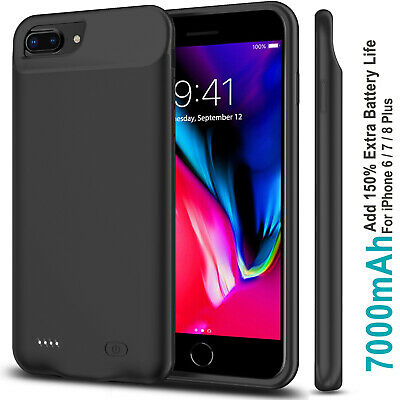 AU52.99 • Buy Portable IPhone 8 Plus 5500mAh Power Pack External Battery Charger Charging Case