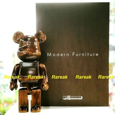 $2977.99 • Buy Medicom Be@rbrick 2018 Karimoku Modern Furniture Wood 400% Wooden Bearbrick