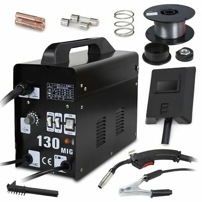 MIG Welder Gasless Flux NO Gas 120A 130 Portable Welding Machine Kits 230V UK • 77.59£
