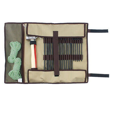 AU20.76 • Buy Outdoor Camping Tent Peg Nails Storage Case Hammer Accessories Tote Bag