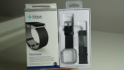 $ CDN22.96 • Buy Fitbit Blaze Accessory Replacement Leather Wrist Band & Frame Black Small