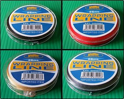 Grade A NCP Nylon Whipping Wrapping Thread Fishing Rod Rings Guides - 25m Spool • 2.25£
