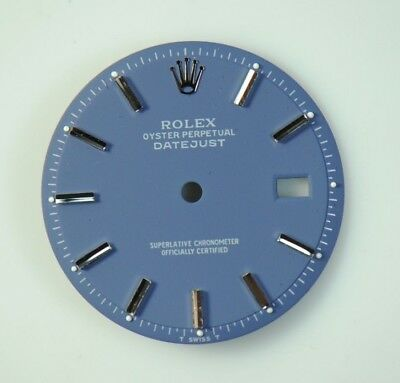 $ CDN254.71 • Buy Refinished Rolex Datejust Matte Blue Stick Dial For 36mm Datejust 1601