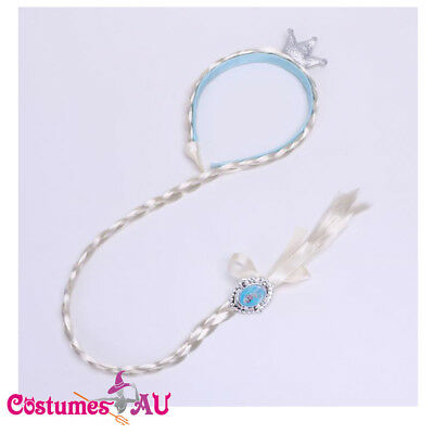 Girls Cinderella Wig Headband Hair Plait Disney Princess Child Costume Accessory • 6.46£