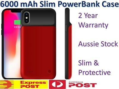 AU36.98 • Buy IPhone X / XS Max XR Battery Case 6000mAh Rechargeable Charger Portable Charging