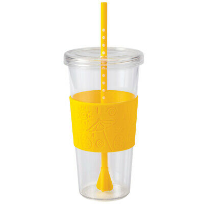 $12.99 • Buy Copco Sierra On The Beach ToGo Cup Insulated Tumbler Straw Lid Clear Lemon 24 Oz