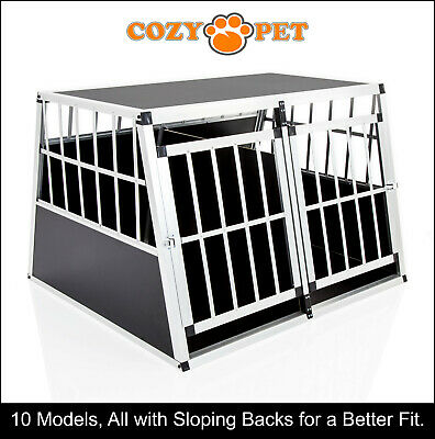 View Details Aluminium Car Dog Cage Cozy Pet Travel Puppy Crate Pet Carrier Transport ACDC06 • 84.99£