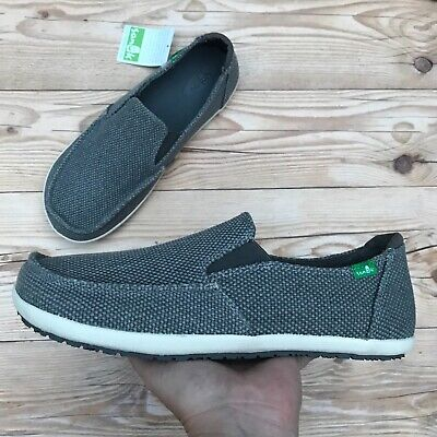 Sanuk Vagabonded Vulc Men's Size 7 Or 8 Sidewalk Surfer Slip On Charcoal Shoes • 36.43£