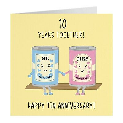 £3.99 • Buy 10th Wedding Anniversary Card - Tin Anniversary - Iconic Collection