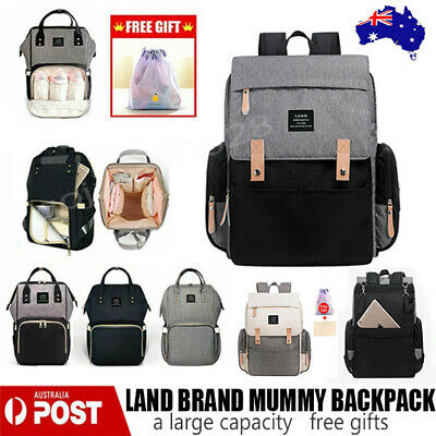 AU28.40 • Buy LAND Mummy Maternity Nappy Diaper Bag Capacity Baby Bag Travel Backpack Waterpro