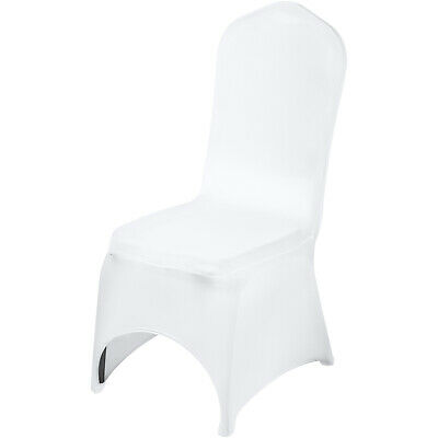 $106.45 • Buy Universal 100 Pcs Polyester Spandex Wedding Chair Covers Arched Front White